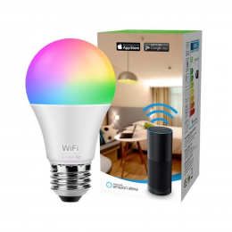 LED Smart WiFi Bulb - Dimmable with 16 Million Colours