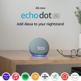 Amazon Echo Dot with Clock (4th Gen) - Smart speaker with Alexa