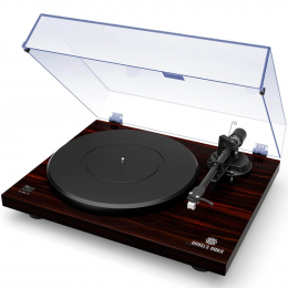 Angels Horn Vinyl Record Player -  Two Speed Vintage Turntable (Mahogany)
