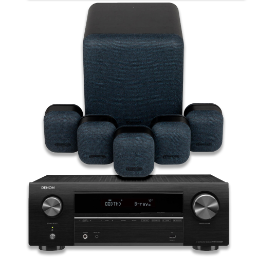 Denon AVR-X550 5.1 Package including Monitor Audio Mass Speaker Package and Sub