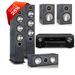 Denon AVR-X1600H Package including Monitor Audio Bronze 6 Speaker Package