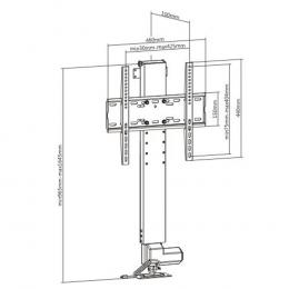 """Lumi LP62 - Vertical PopUp TV Lift 32-48"""""""
