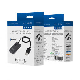 Inakustik Bluetooth Transmitter & Splitter - Bluetooth Audio Transmitter & Splitter jack plug input