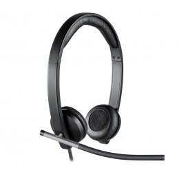 Logitech Business H650e Headset - Business Headset with Noise Cancelling Mic