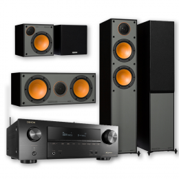 Monitor Audio Reference 200 5.0 Speaker Package with Denon AVR-X1600H