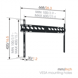 """Vogels MA4000 - Fixed TV Wall Mount 40-80"""""""