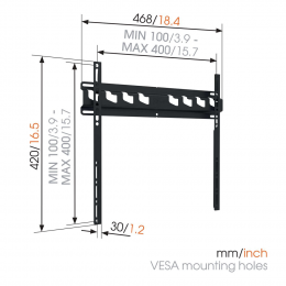 """Vogels MA3000 - Fixed TV Wall Mount 32-55"""""""