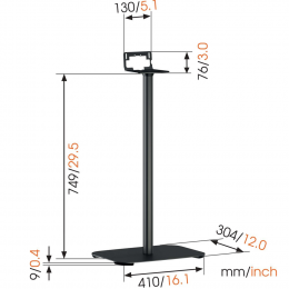 Vogels Sound 3305 - Floor Stand for Sonos Five | Play 5 or Heos 5/7 (each)