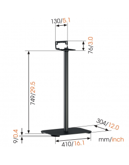 Vogels Sound 3305 - Floor Stand for Sonos Play 5 or Heos 5/7 (each)