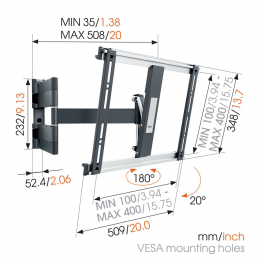 Vogels THIN 445 - Extra Thin Full Motion Wall Mount