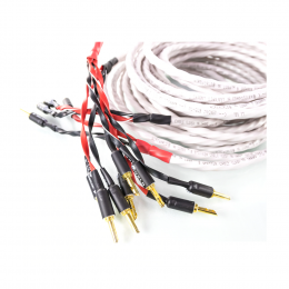 Wireworld Luna 8 Bi-Wire Speaker Cable - 3m Pre-Terminated (pair)