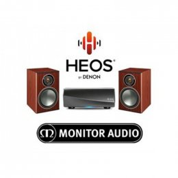 HEOS amp and Monitor Audio Bronze 1