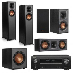 Klipsch System - Klipsch R-610F and Denon AVR-X1600H 5.1 Surround System