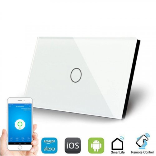 WallPad 1 Lever Smart Switch - Works with Alexa, iOS and Android
