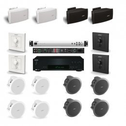 Bose Professional Restaurant System 1 - Complete audio 2 Zone system for your business, cafe or restaurant