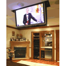 Definition TV Lift - Ceiling Vertical Scroller -Fixed Lid