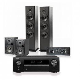 Denon Polk Home Theatre Package - Denon X250BT with Polk T-Series 5.0 Speaker System