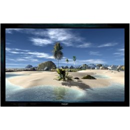"Grandview Fixed Frame 100"" - Projector Screen Velvet Border 16:9"