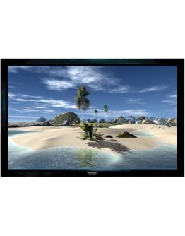 """Grandview Fixed Frame 77"""" -  Projector Screen Velvet Border 16:9"""