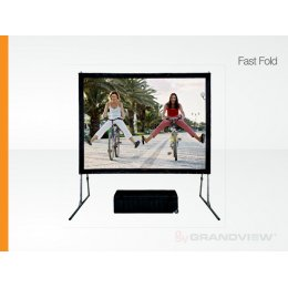 Grandview Super Mobile Fast Fold Screen - 120""