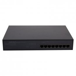Pakedge S8P4fe - Front Orientation 8-Port Unmanaged Gigabit PoE Switch