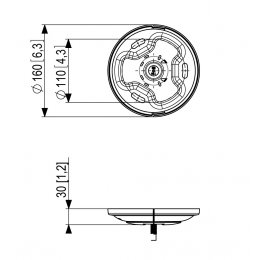 Vogels PUC 1011 - Ceiling Plate