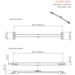 Vogels SOUND 3400 - Sound Bar Mount