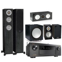 Monitor Audio System Silver 200 With Denon AVR-x4500H - Home Theater System (What HiFi? Awards 2019)